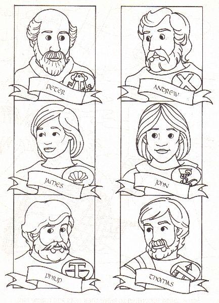 Apostles coloring #11, Download drawings