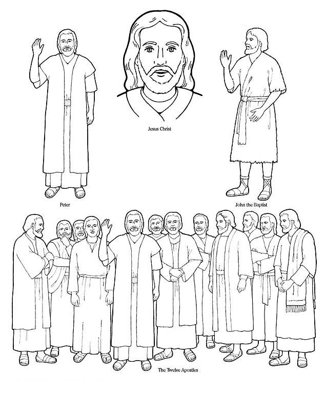 Apostles coloring #17, Download drawings