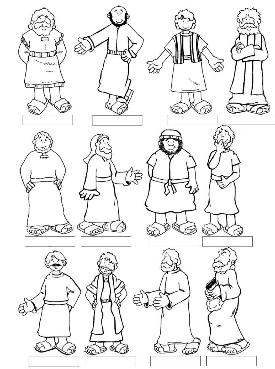 Apostles coloring #4, Download drawings