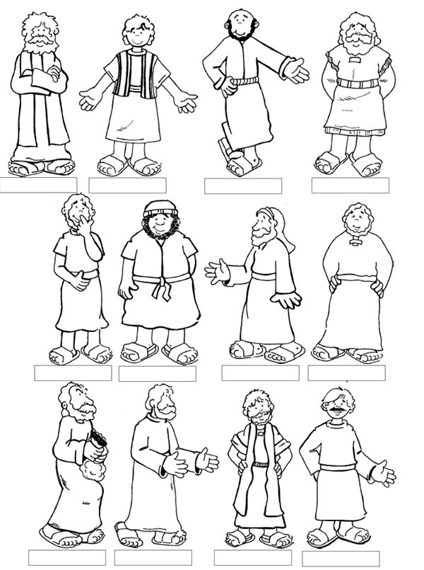 Apostles coloring #19, Download drawings