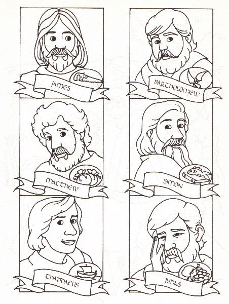 Apostles coloring #3, Download drawings