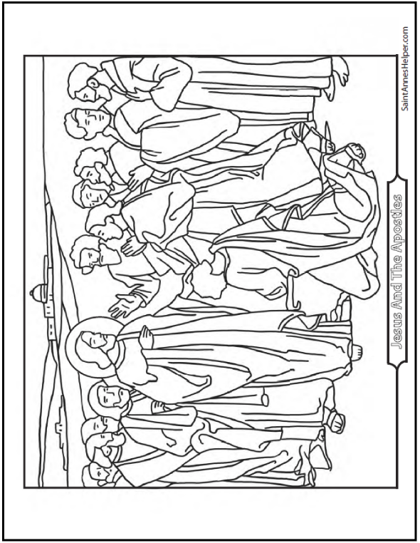 Apostles coloring #12, Download drawings