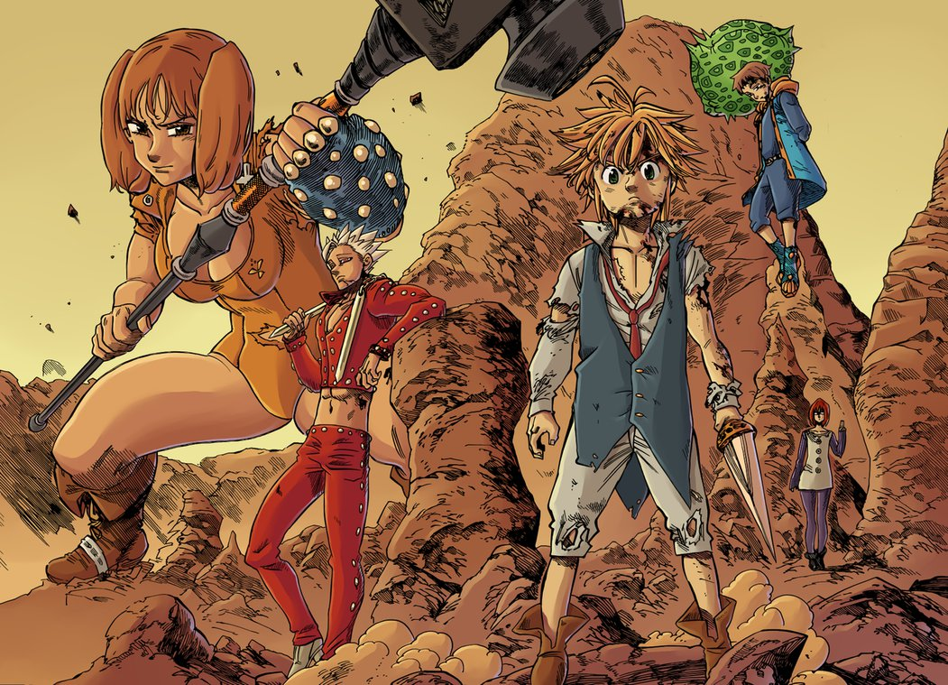 7 Deadly Sins coloring #5, Download drawings