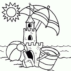 Sand Castle coloring #14, Download drawings