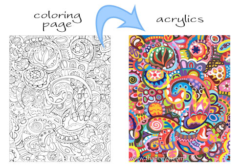 Abstract coloring #8, Download drawings