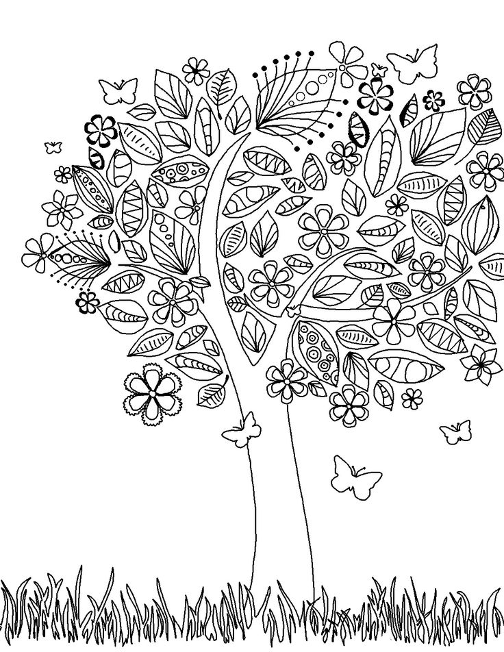 Ume Tree coloring #13, Download drawings