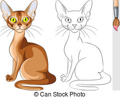 Abyssinian Cat clipart #1, Download drawings