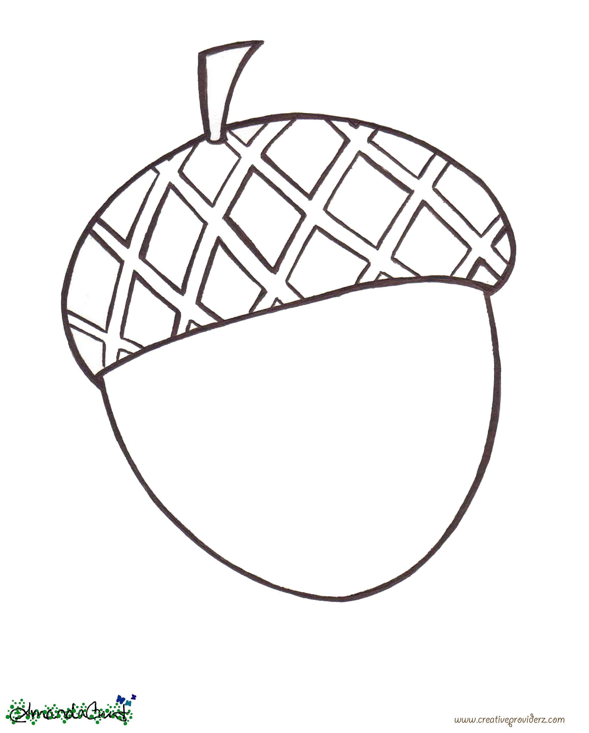 Acorn coloring #15, Download drawings