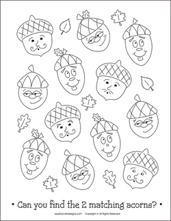 Acorn coloring #8, Download drawings