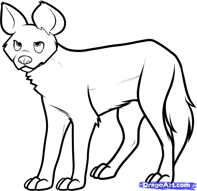 African Wild Dog coloring #9, Download drawings