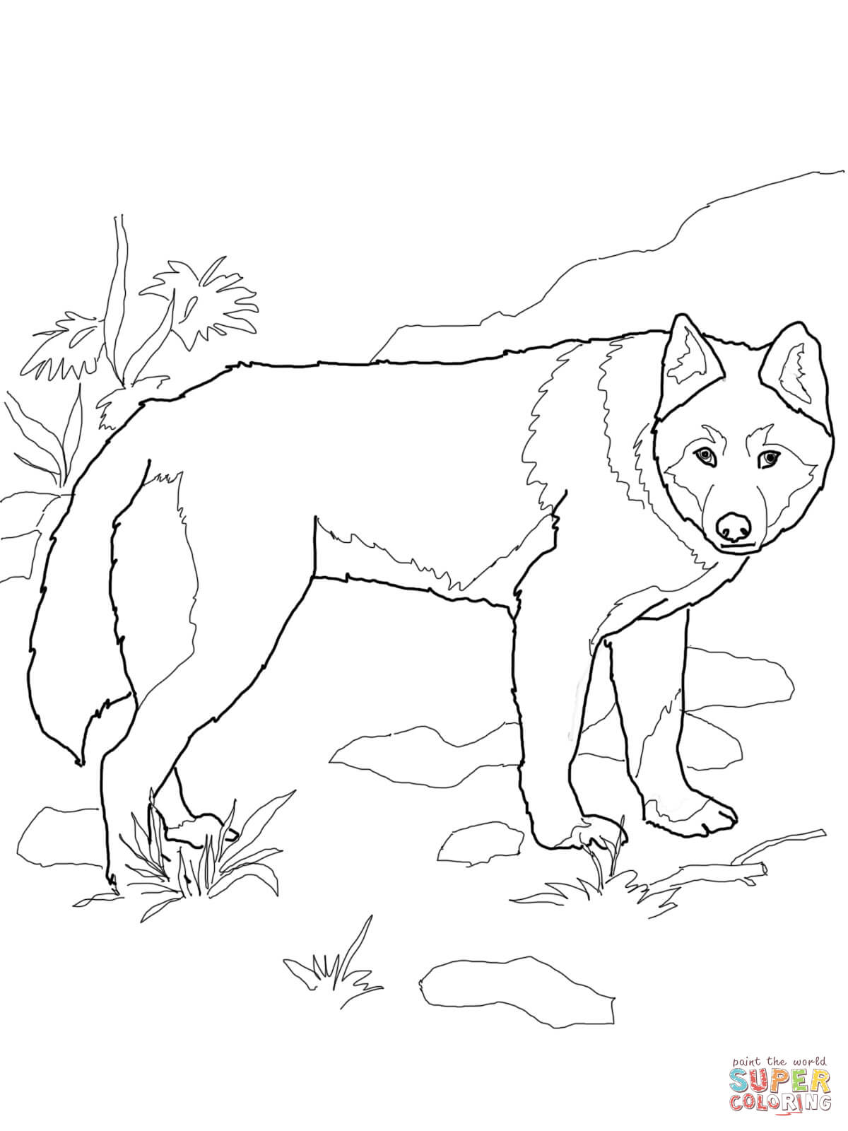 African Wild Dog coloring #17, Download drawings