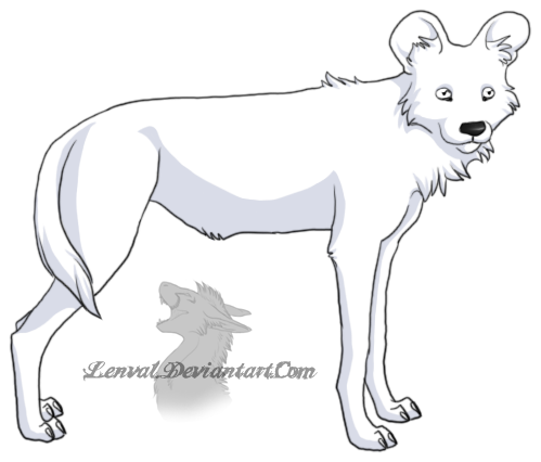 African Wild Dog coloring #18, Download drawings