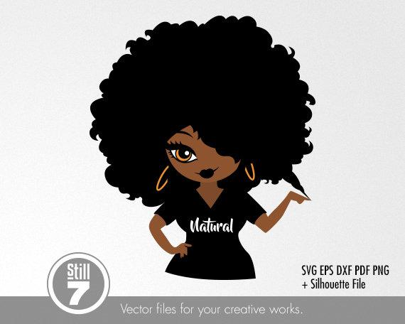afro girl svg #455, Download drawings