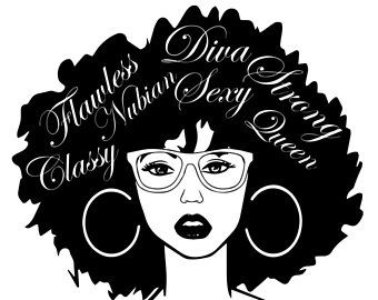 afro girl svg #436, Download drawings