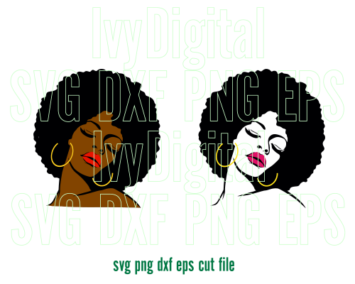 afro girl svg #438, Download drawings
