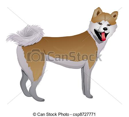 Japanese Akita clipart #2, Download drawings