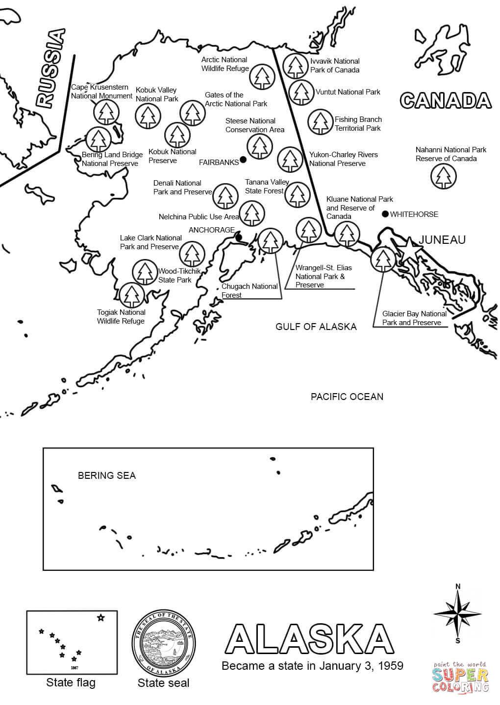 Alaska coloring #8, Download drawings