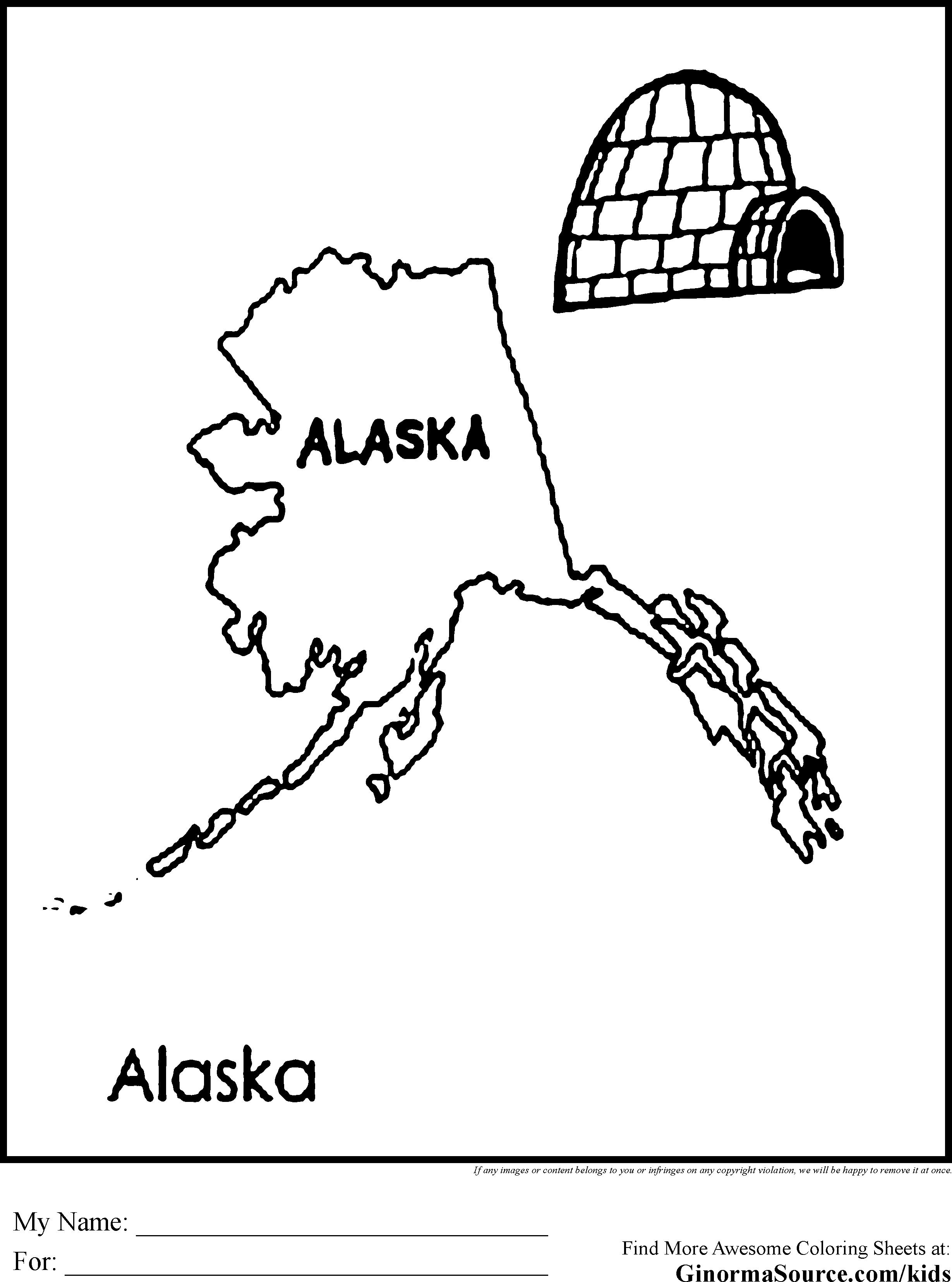 Alaska coloring #4, Download drawings