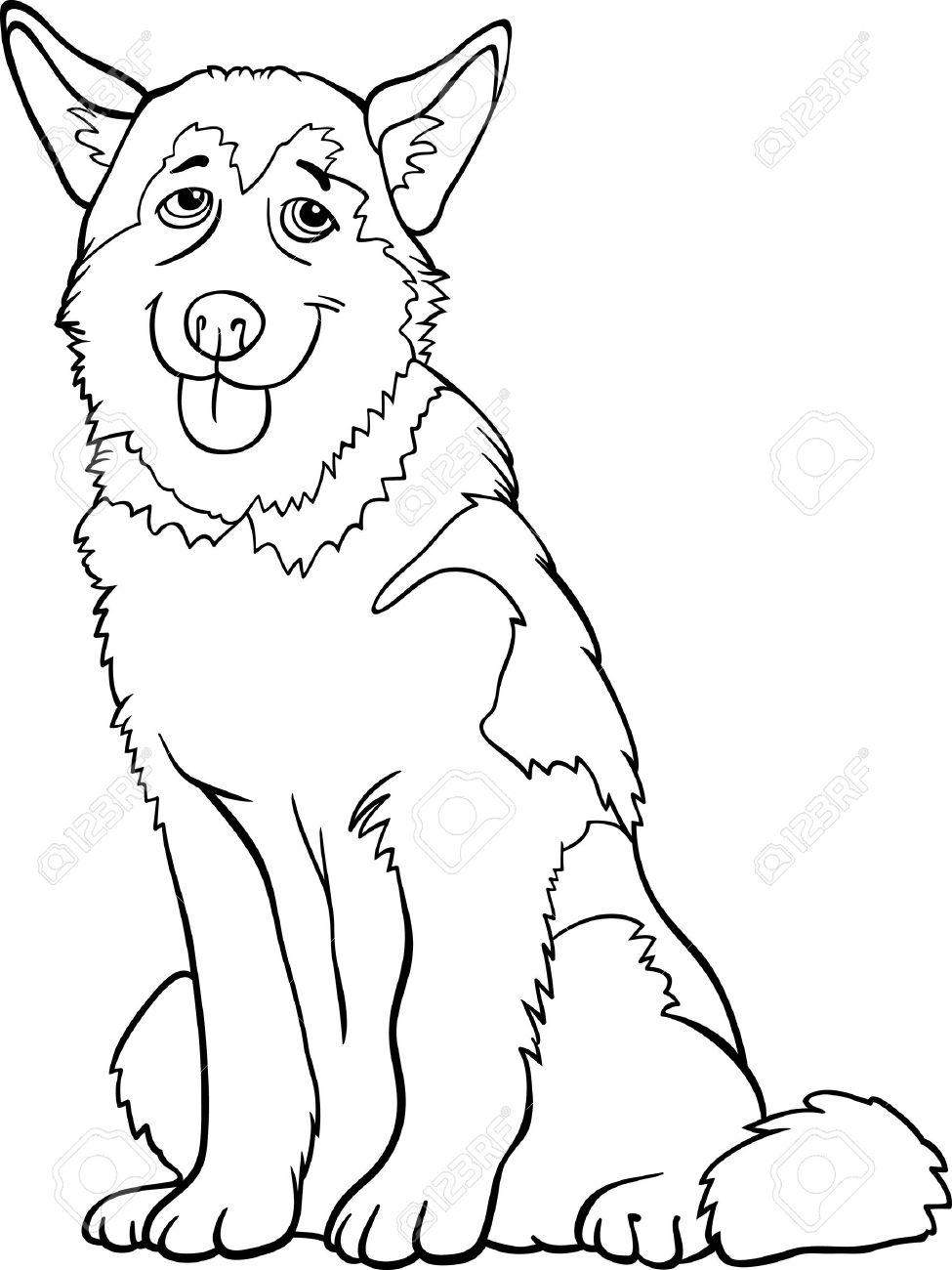 Siberian Husky coloring #18, Download drawings