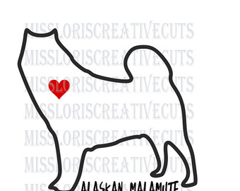 Alaskan Malamute svg #6, Download drawings