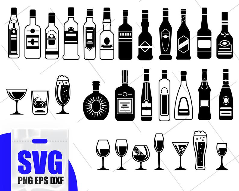 alcohol svg #389, Download drawings