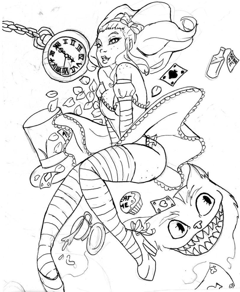 Alice (Alice In Wonderland) coloring #9, Download drawings
