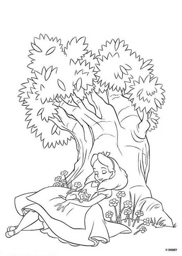 Alice (Alice In Wonderland) coloring #15, Download drawings
