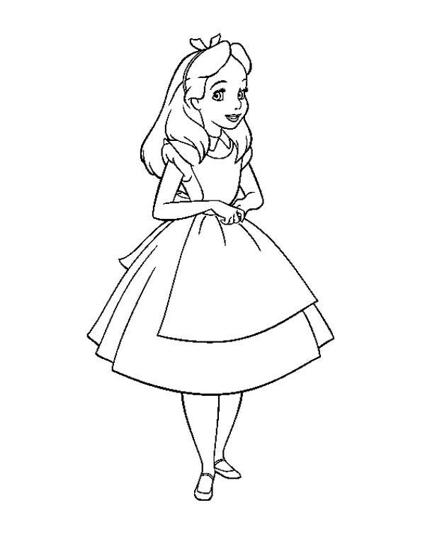 Alice (Alice In Wonderland) coloring #4, Download drawings