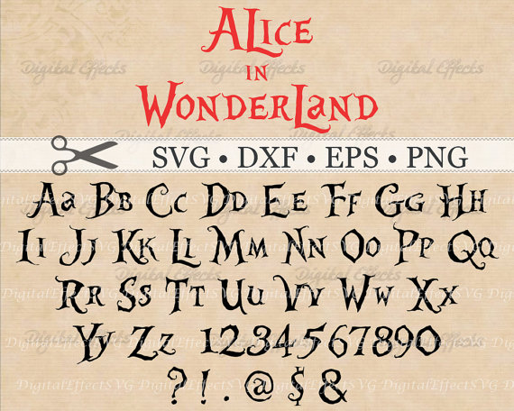 Alice (Alice In Wonderland) svg #1, Download drawings