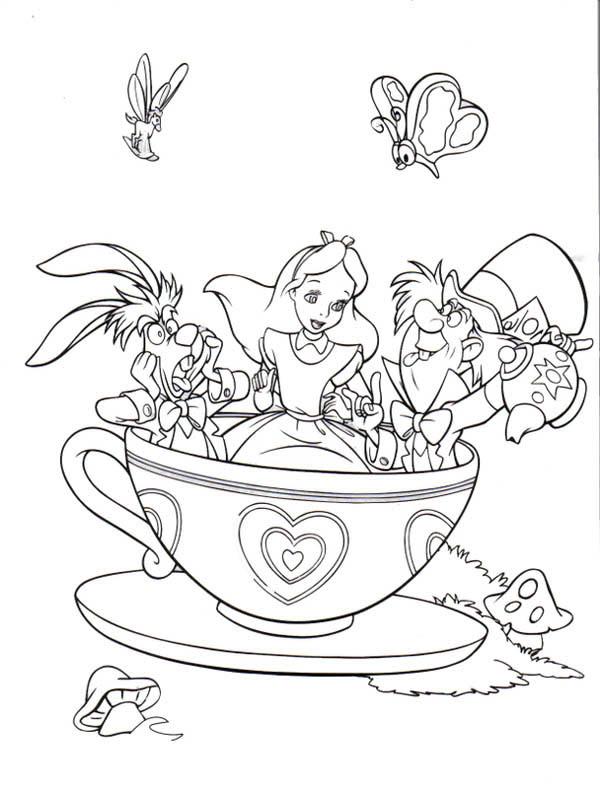 Alice In Wonderland coloring #1, Download drawings