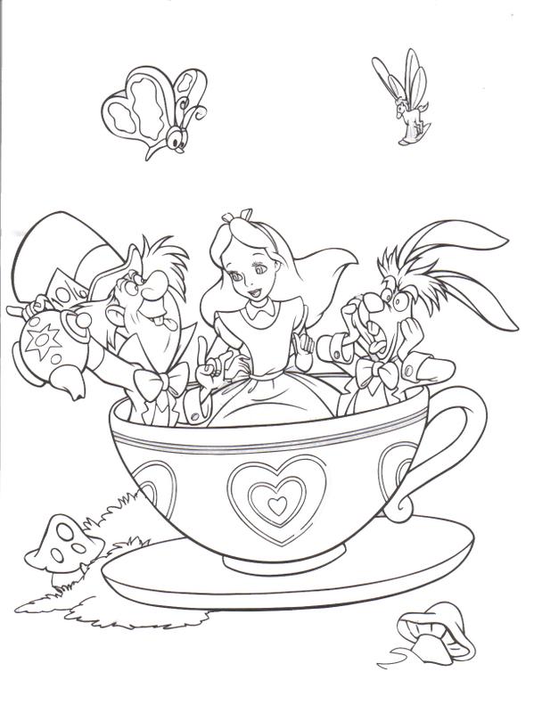 Alice In Wonderland coloring #17, Download drawings