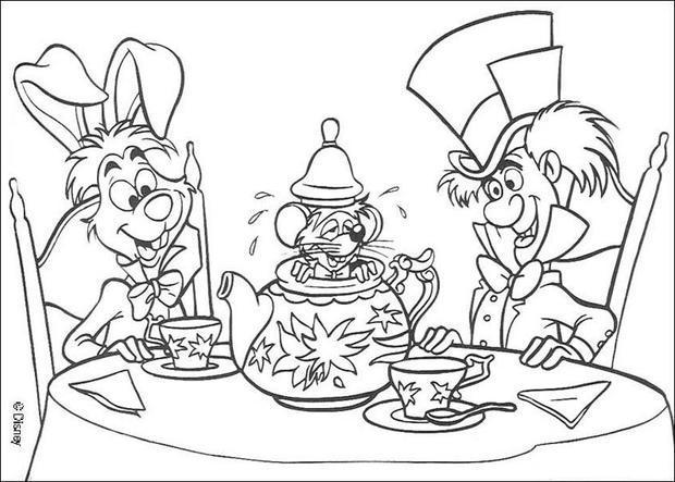 Alice In Wonderland coloring #5, Download drawings