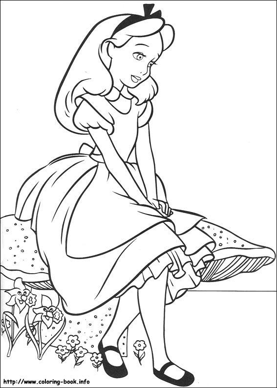 Alice In Wonderland coloring #14, Download drawings