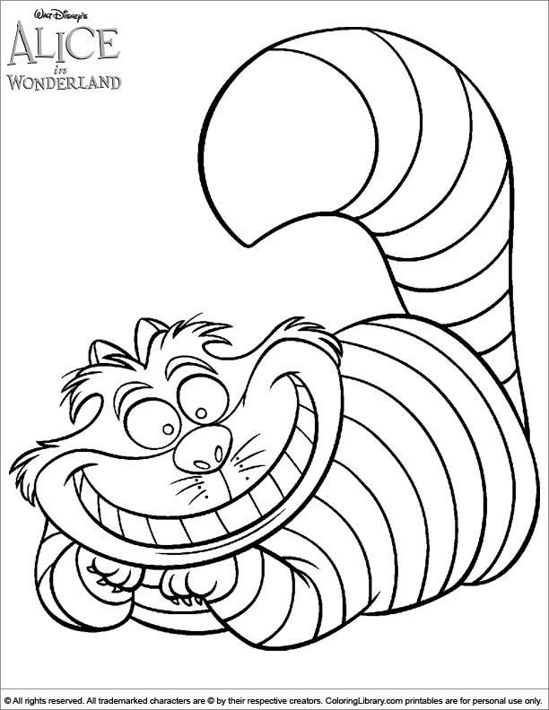 Alice In Wonderland coloring #2, Download drawings