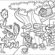 Alice (Alice In Wonderland) coloring #19, Download drawings