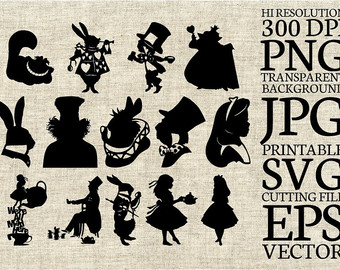 Alice In Wonderland svg #1, Download drawings