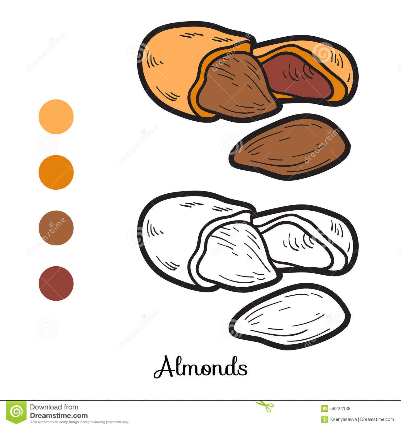 Almond coloring #13, Download drawings