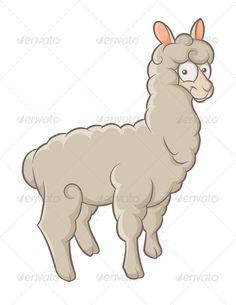 Alpaca clipart #1, Download drawings