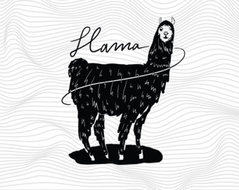 Llama svg #19, Download drawings