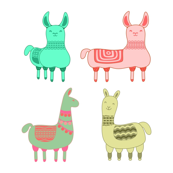 Llama svg #18, Download drawings