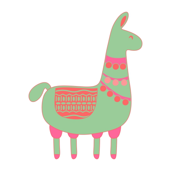 Llama svg #14, Download drawings