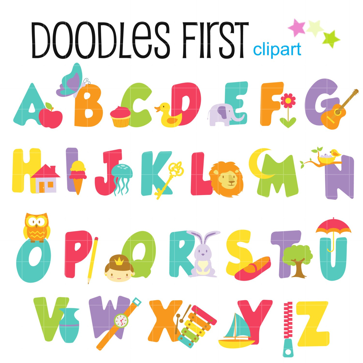 Alphabet clipart #1, Download drawings