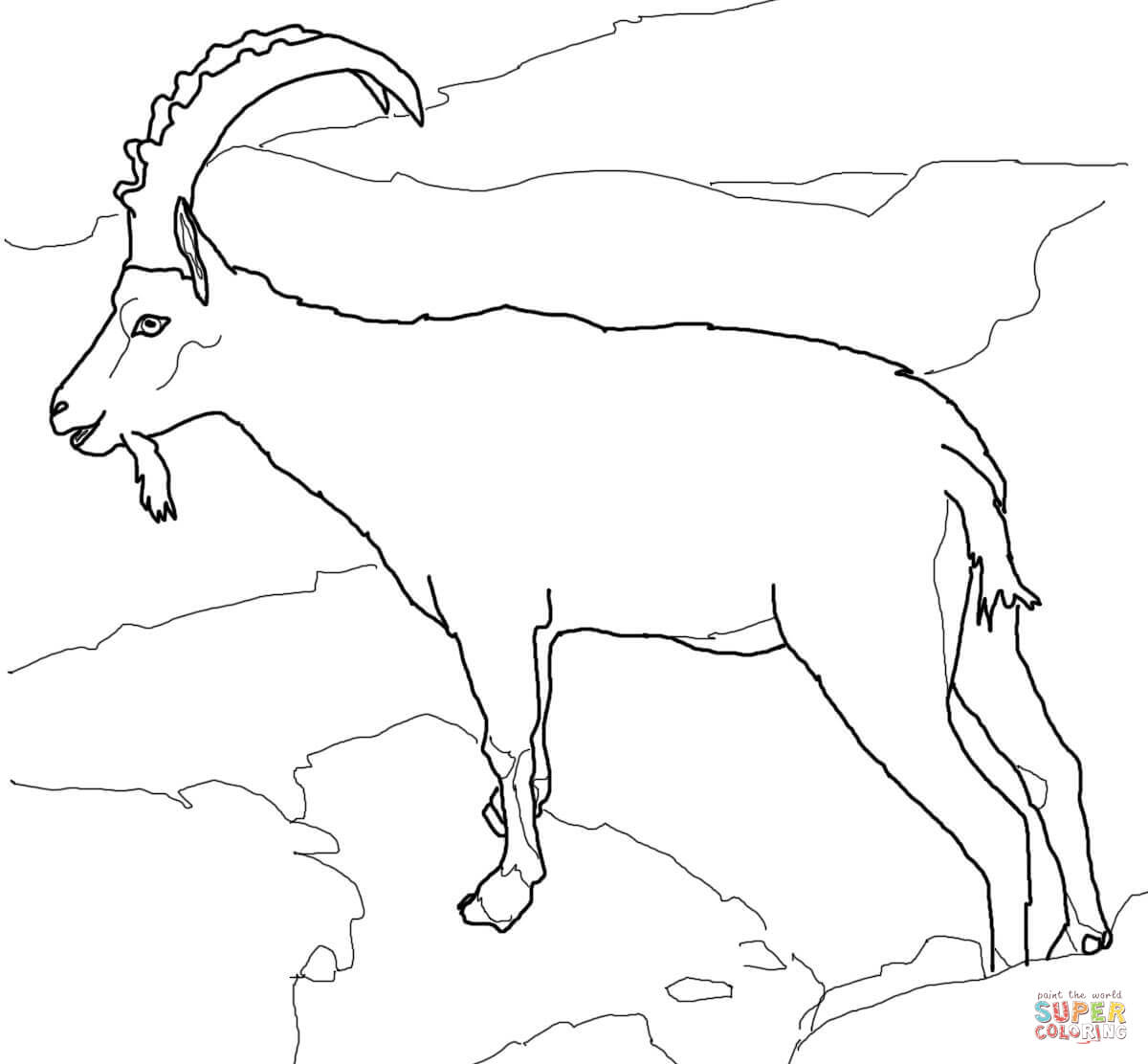 Ibex coloring #18, Download drawings