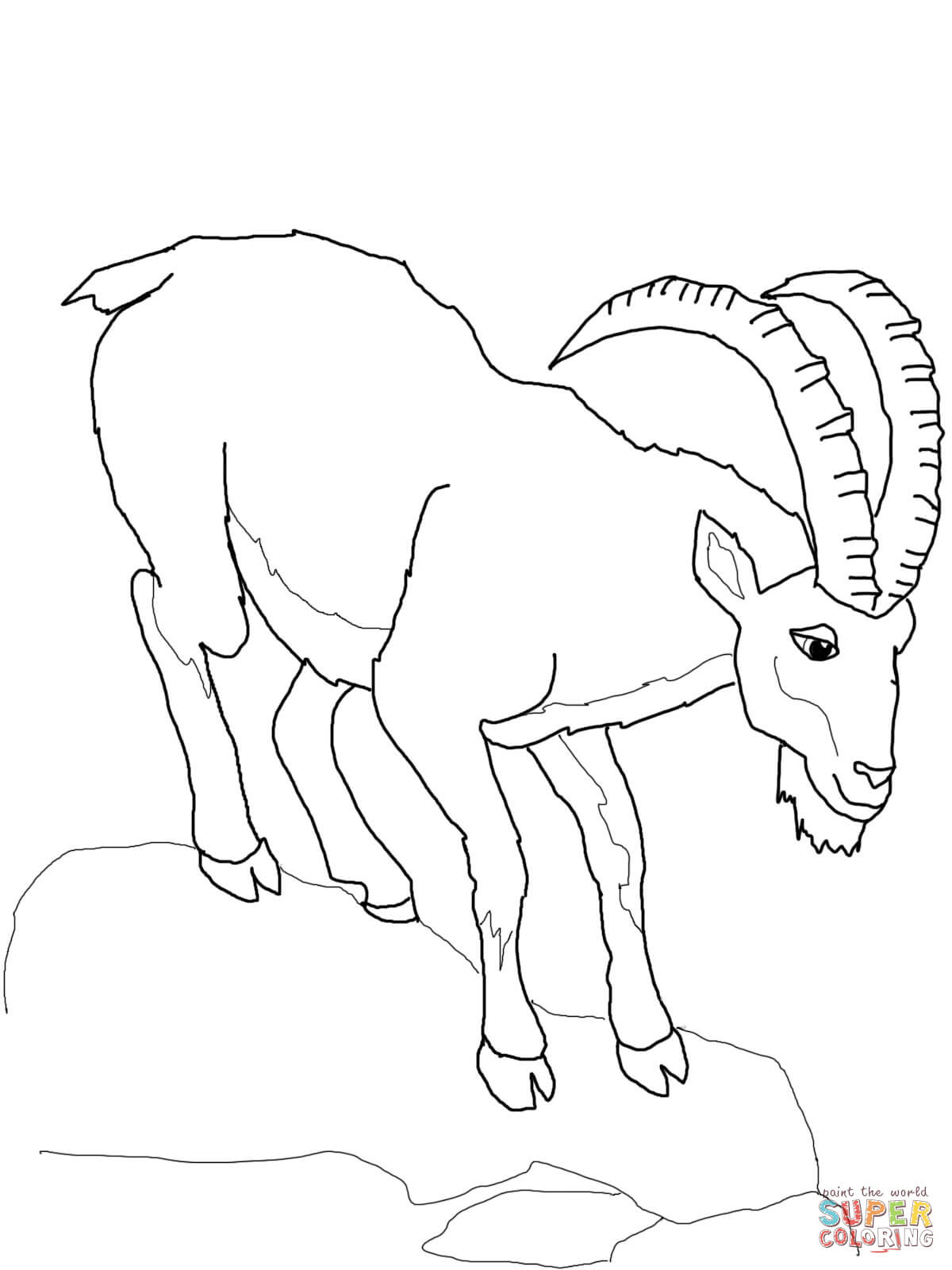 Ibex coloring #19, Download drawings