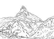 Matterhorn coloring #1, Download drawings