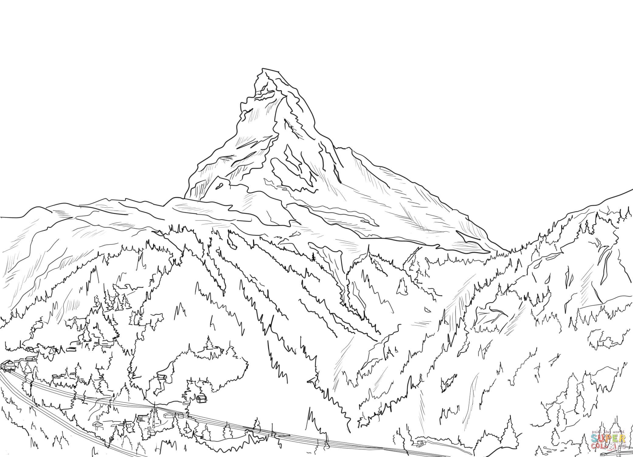 Matterhorn coloring #7, Download drawings