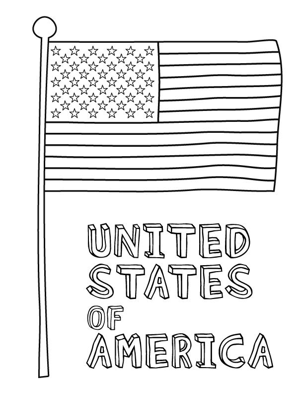 Flag coloring #3, Download drawings