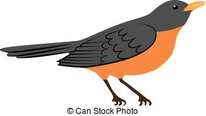 American Robin clipart #2, Download drawings