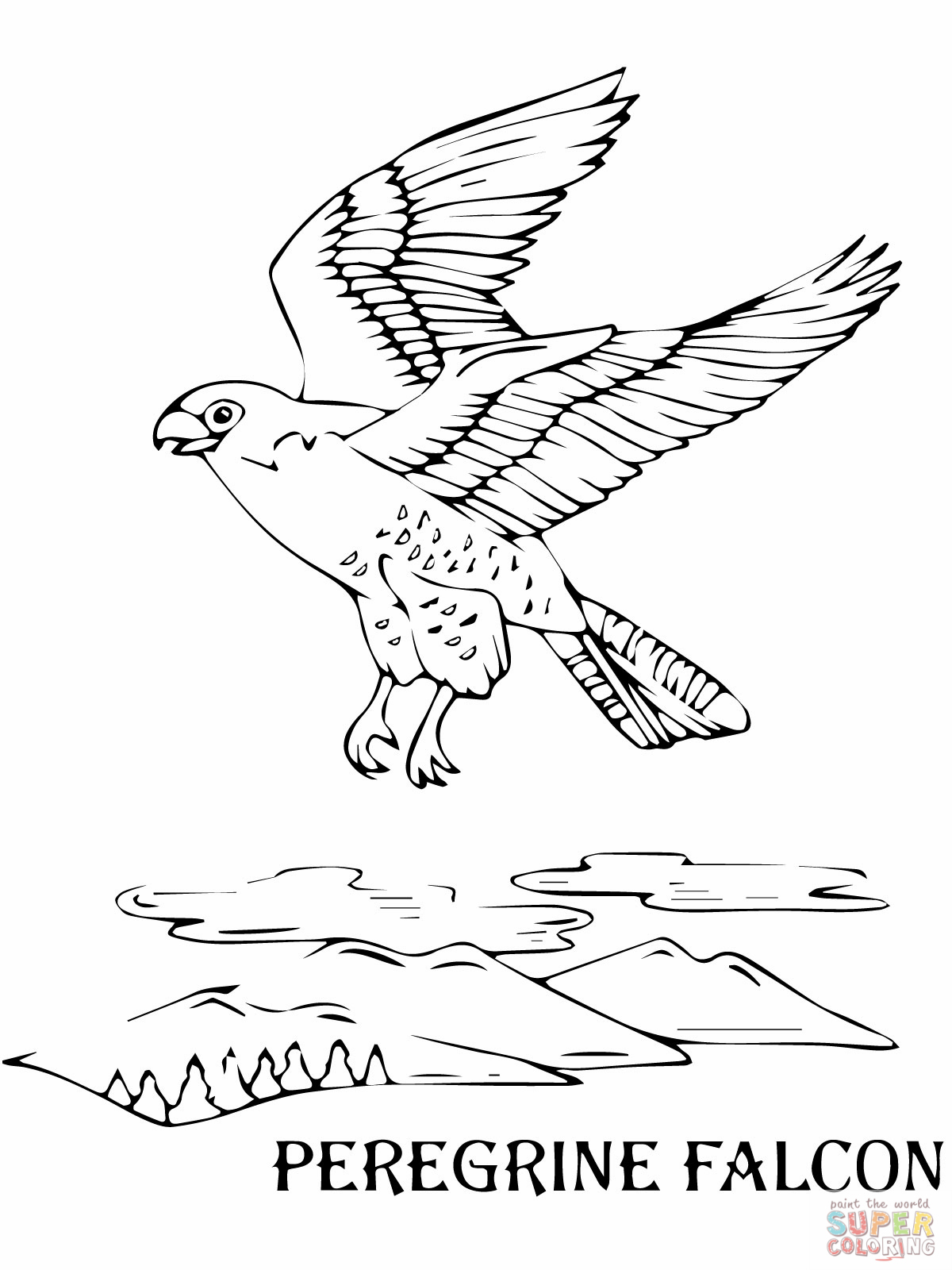 Peregrine Falcon coloring #12, Download drawings