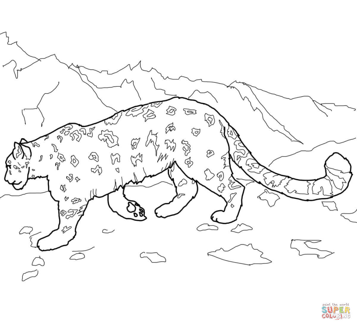 Leopard coloring #13, Download drawings